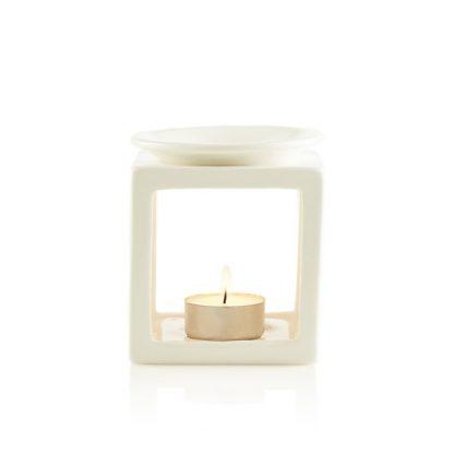 Oil Burner Cube White